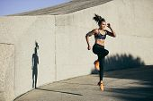 Fitness Woman Doing Cardio Interval Training poster
