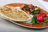 image of indian food  - traditional indian meal of flat breads  - JPG