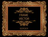 Frame Picture Vector Floral Design Border New 05 poster