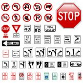 foto of road sign  - Road Sign Set  - JPG