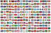 foto of flags world  - 216 Official flags of the world in alphabetical order - JPG