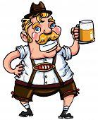 pic of lederhosen  - Cartoon man wearing a lederhosen - JPG