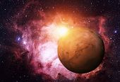 Постер, плакат: Solar System Mars It Is The Fourth Planet From The Sun