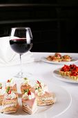 foto of gourmet food  - appetizer buffet food - JPG