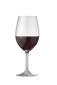 picture of wine-glass  - glass of cabernet wine on white with clipping path - JPG
