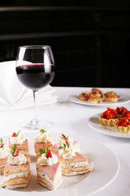 image of gourmet food  - appetizer buffet food - JPG