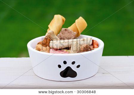 Dog Food In Dog Bowl