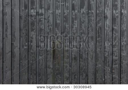 Black Plank Wall