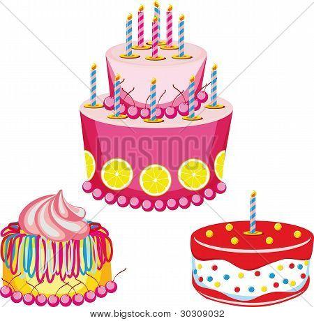 birthday cake with congratulations