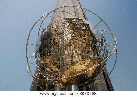 Globe At The Columbus Circle In New York