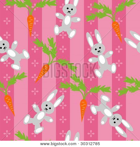 background with hares and carrots
