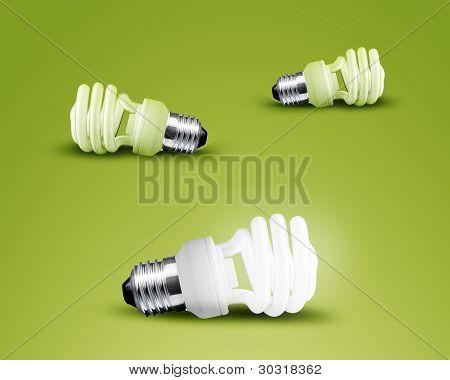 Uma lâmpada de incandescência