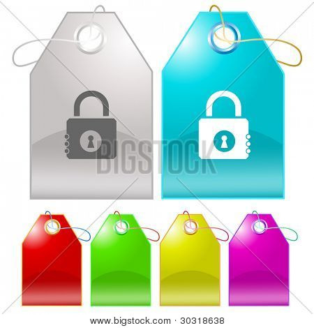 Closed lock. Raster tags. Vector version is in my portfolio.