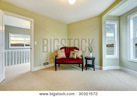 Classic Green And Elegant New Bedroom With Bench