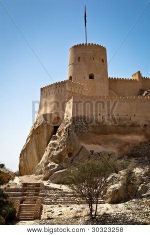 O forte de Nakhl em Al Batinah, Oman
