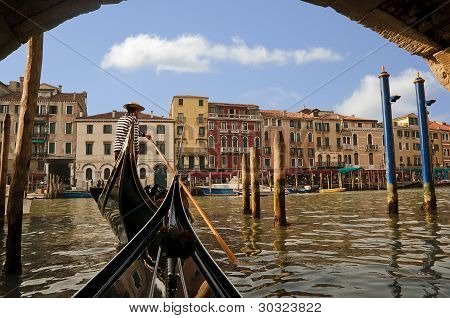 Gondolier on the Grand Canal, Venice