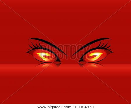 Cartoon Inflammatory Evil Eyes