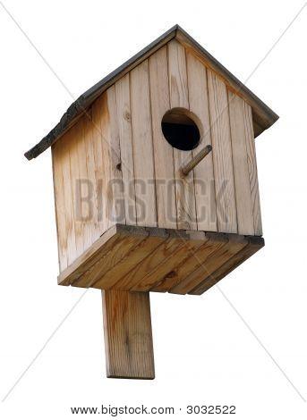Birdhouse Over White