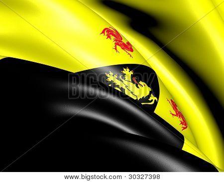 Flag Of Walloon Brabant, Belgium.