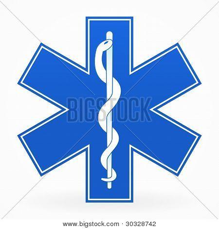 Blue Medical Sign