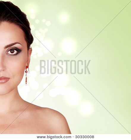 Portrait Young Woman With Fashion Makeup