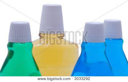 Bottles With Mint Mouthwash