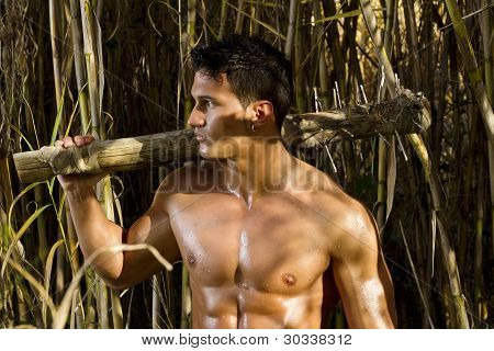 Fighter Man With Mace Weapon