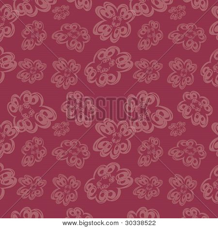 Seamless Background With Transparent Flowers