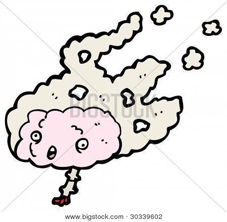 flaming brain cartoon (raster version)