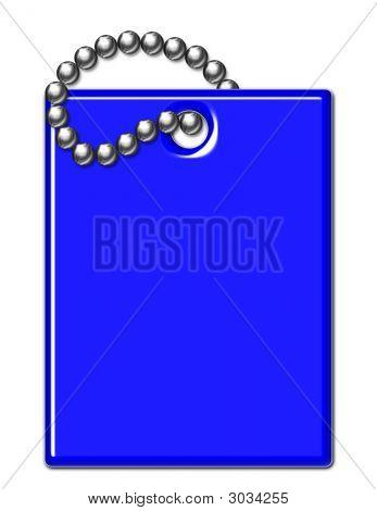Blue Shiny Luggage Tag Illustration