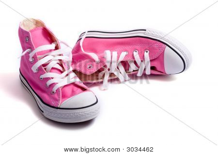 Pink Basketball Shoes