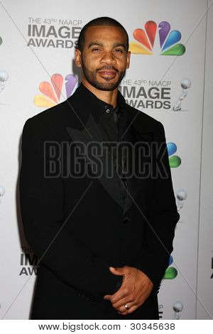 LOS ANGELES - FEB 17:  Aaron D Spears arrives at the 43rd NAACP Image Awards at the Shrine Auditorium on February 17, 2012 in Los Angeles, CA