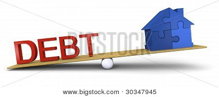 Schulden gegenüber Haus