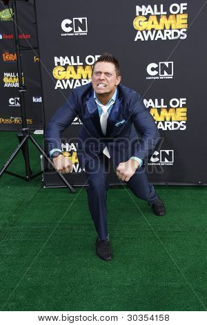 SANTA MONICA, CA - FEB 18: Mike Mizanin aka The Miz at the 2012 Cartoon Network Hall of Game Awards at Barker Hangar on February 18, 2012 in Santa Monica, California