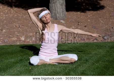 Mature Woman Exercising