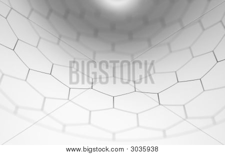 Hexagon Graph Curving Inward
