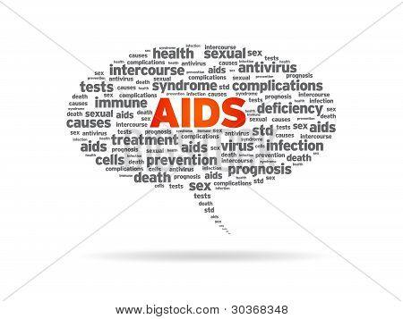 Speech Bubble - Aids