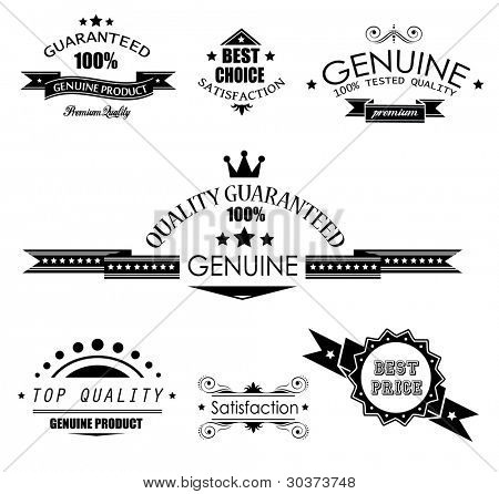 Premium Quality Labels - Collection of retro bi-colours vintage labels with several slogans: Best Choice, Premium Quality, Top Choice and so on.