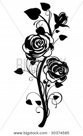 Vector Rose Graphic