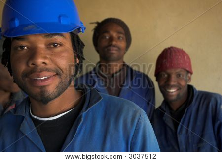 Three Construction Workers
