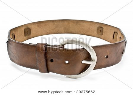 Leather Men's Belt With  Clasp