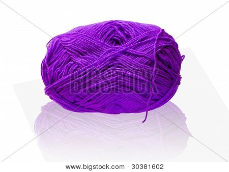Thread Purple Reflection On White Background