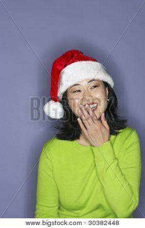 Portrait of young bashful woman