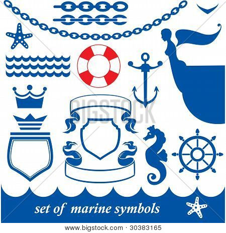 Set of marine elements