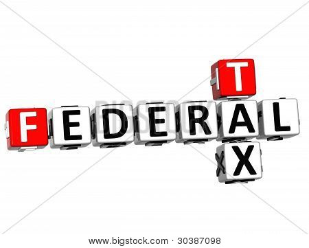 3D Tax Federal Text Crossword