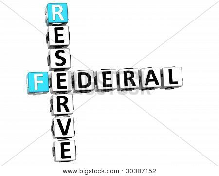 3D Reserve Federal Text Crossword