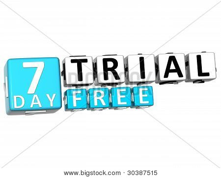 3D Get 7 Day Trail Free Block Letters