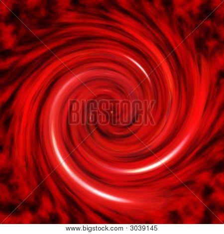 Red Vortex Abstract Background Pattern
