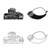 Vector Illustration Of Culture And Sightseeing Icon. Collection Of Culture And Originality Stock Vec poster