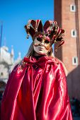 Carnival of Venice. Colorful carnival mask at a traditional festival in Venice, Italy. Beautiful mas poster